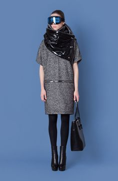 Cocoon Fall - Winter 2014-15 / Blu collection / Chimney Scarf & Wool Dress with zippers