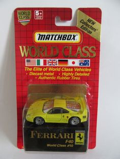 Matchbox #superfast 70f #ferrari f40 - yellow - world #class series  ,  View more on the LINK: 	http://www.zeppy.io/product/gb/2/192058411638/