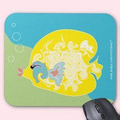 Yellow Fish Mousepad