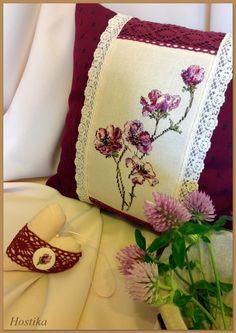 Остров рукодельного удовольствия.: Интерьерная подушка с анемонами .