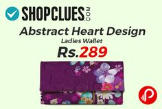 Shopclues is offering 86% off on Abstract Heart Design Ladies Wallet at Rs.289. ShopMantra presents an Exclusive Multi color Pattern wallet for the girls and ladies who have very choosy about their accessory collection having Sample compartments to keep all the stuff in place.   http://www.paisebachaoindia.com/abstract-heart-design-ladies-wallet-at-rs-289-shopclues/