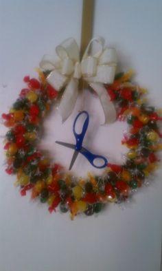 Make a candy wreath