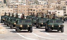 Royal Jordanian Land Force M1025A2 HMMWVs.