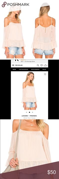 Lovers + Friends NWT top New with rage lover and friends top in color papaya. Retails $110. Size large. Lovers + Friends Tops Blouses