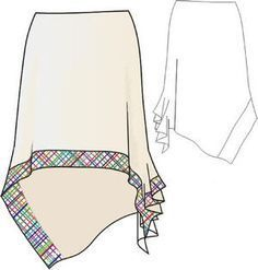 новые выкройки юбок | Асимметричная юбка выкройка