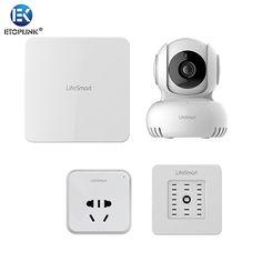 LifeSmart Smart Socket Station Centre IP Camera Environment Sensor Cell Phone Remote Control Home Appliance Like Broadlink S1C