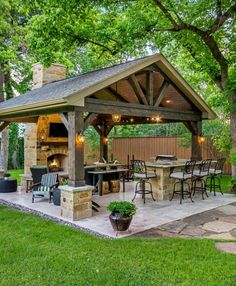 The patio of a house can be settings for many unique things. Whether you have a tiny space or a larger one, you want your outdoor space to be comfortable and nice. Your patio supplies the foundation for your outdoor living space. Backyard Kitchen, Outdoor Kitchen Design, Outdoor Kitchen Plans, Outdoor Patio Decorating, Summer Kitchen, Outdoor Decorations, Balcony Decoration, Porch Decorating, Decorating Tips