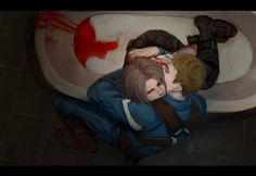 Steve came home from a mission and found Bucky huddled in the bathtub. Hiding? Having some kind of episode? He'd broken in somehow, found a knife, tried to carve away the metal—not the first time, to judge by the scars. Steve grabbed him up, terrified that he wouldn't find a pulse, but Bucky was still breathing. The paramedics Steve called found them that way—Bucky pale and unresponsive, Steve clutching him and weeping. Bucky wo