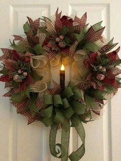 Christmas Joy Nancy Naigle at Diy Christmas Wreaths Ball . Primitive Christmas, Primitive Wreath, Felt Christmas, Christmas Crafts, Christmas Ornaments, Burlap Christmas, Ball Ornaments, Christmas Poinsettia, Primitive Crafts