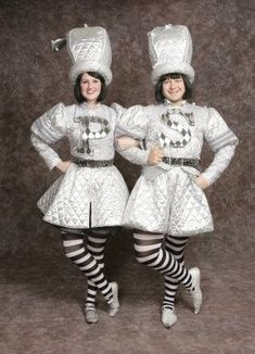 $45.00 Costume Rental  Mrs. Pepper  silver dress w/p detail, black petticoat, pepper grinder hat, silver shoes
