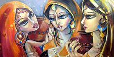 Group Show at Grandeur Art Gallery - Pak Art Pakistan Arts news ... Pakistan Art, Love Painting, Plexus Products, New Art, Cool Art, Art Gallery, Illustration Art, Princess Zelda, Abstract