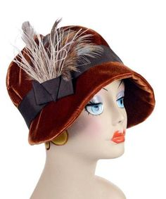 db989160f7a2d2 Grace Cloche Style Hat - Velvet in Citrine - Medium / 2 & F15-03 - Hats -  Pandemonium Millinery #pandemoniummillinery #shoppandemonium #hat #velvet