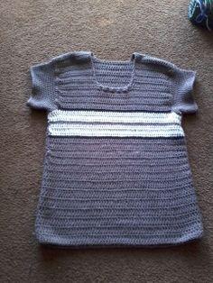 Beige & White Crochet Sweater