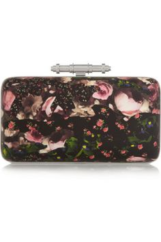Givenchy|Obsedia clutch in printed leather