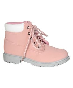 Look at this #zulilyfind! Bamboo Pink Plush Hike Combat Bootie by Bamboo #zulilyfinds