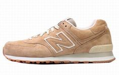 Joes New Balance ML574 Sneakers SuedeAnti-Winter Series Khaki Grey Mens Shoes