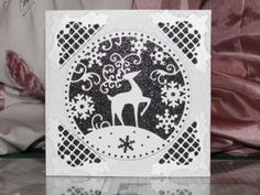 christmas cards using tattered lace dies Magical Christmas, Christmas Deer, Christmas Angels, Handmade Christmas, Christmas Stuff, Simple Christmas Cards, Xmas Cards, Holiday Cards, Crafters Companion Cards