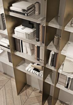Furniture For Bedrooms Shelving Design, Bookshelf Design, Bookcase Shelves, Display Shelves, Storage Shelves, Modern Interior, Interior Architecture, Cuisines Design, Cabinet Design