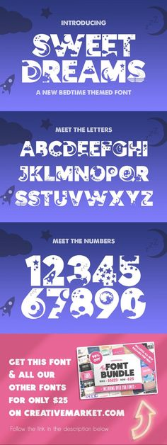 Sweet Dreams Silhouette Font #font #girl #boysroom #catdoodles #woff #stylish #sheep #kid #illustration #quirky #FontDesign #kittensvg #initial #german #patterned #catfont #japanese #lettering #ttf Typography Fonts, Typography Design, Kid Illustration, Silhouette Fonts, Open Type, Font Alphabet, Cool Fonts, Wabi Sabi, Sweet Dreams