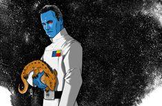 "#GetThrawnIn #KissAChiss ""Grand Admiral Thrawn (Thrawn trilogy) by Tom Hodges:"""