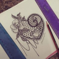 lace tattoo design heart - Google-haku