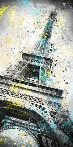 City-Art Paris Eiffel Tower IV - Digital Art by Melanie Viola