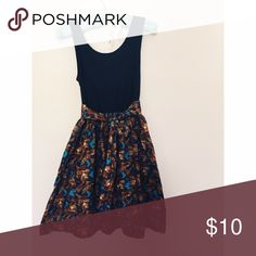 Tribal Skater Dress It's so cute and easy! There's a tie-a-bow belt and pockets ❤️ the brand is mossino. Vintage find. Great condition ❤️ Vintage Dresses