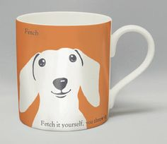 Silhouette Portrait range of bone china mugs from Repeat Repeat. www.repeatrepeat.co.uk