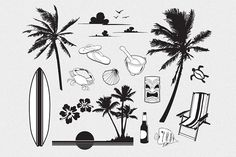 Tropical Vector Pack by blacksheepsupply on @creativemarket