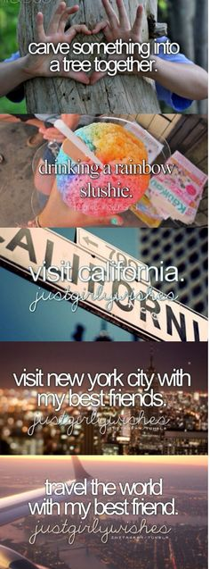 these are the most important things for my bucket list especially travelling with my bestie!