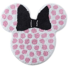 Disney Minnie Mouse Bath Rug (€19) ❤ liked on Polyvore featuring home, bed & bath, bath, bath rugs, minnie mouse bathroom rug, disney, cotton bath rug, cotton bathroom rugs and non skid bathroom rugs