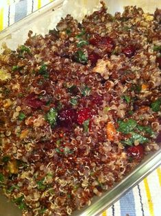 Quinoa, Cranberry & Pecan Pilaf - I often make this for traveling