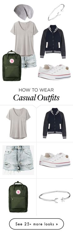 """Casual"" by elliekirk04 on Polyvore featuring Ksubi, Converse, prAna, Fjällräven, Alex and Ani and Black"