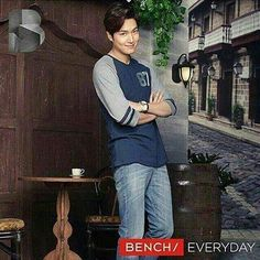 Lee Min Ho with Bench