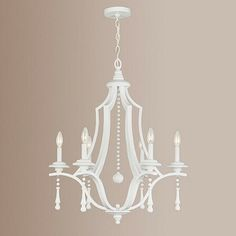Blanc 6-Light Chandelier contemporary chandeliers