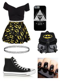 """""""Untitled #24"""" by davinaespinosa ❤ liked on Polyvore featuring Retrò, NLY Trend and Converse"""