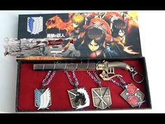 Attack on Titan Necklace and sword keychain set: http://youtu.be/5MpSEI9x4Eo