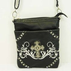 Black Swirl Cross Body Purse