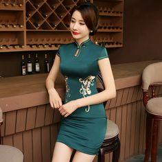 Cheongsam cheongsam long dress            https://www.ichinesedress.com/