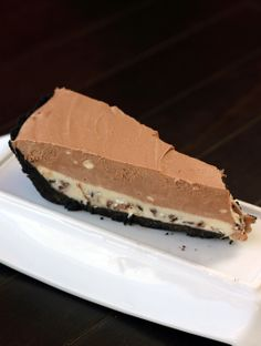 Andes Frozen Mousse Mint Pie - @Karlyn Nelson Johnston: The Kitchen Magpie
