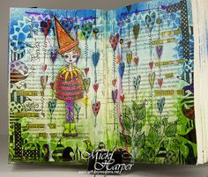 Beautiful Mess Dylusions Journal Spread by ArtfulXpressions, via Flickr