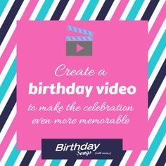 Create a birthday video to surprise your friends and love ones for their birthday at http://bit.ly/2kExTKA #birthday #birthdaysong #birthdayparty