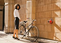 Work Life: Iva Jean is a line of sophisticated women's apparel for biking to work in style. #girl #bike #fashion