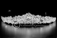 Bridal Headpiece of Teardrop Jewels & Crystal Beads