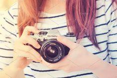 woman using film camera by Nuchylee Photo on Creative Market Camera Reviews, Film Camera, Logo Design Inspiration, Fujifilm Instax Mini, Vintage Photos, Retro Fashion, Photo Art, Round Sunglasses, Hand Holding