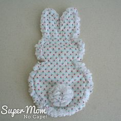 Sew this adorable Rag Quilt Bunny Softie for the little one in your life. The complete step-by-step instructions in this tutorial plus lots of photos make this a quick, easy sew project. #bunny #bunnies