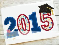 2015 Graduation Applique - 8 Sizes! | What's New | Machine Embroidery Designs | SWAKembroidery.com Creative Appliques