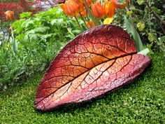 Concrete Leaf Casting Decorative Bright Summer Colors