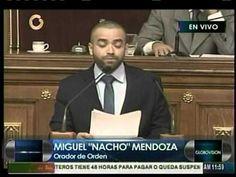 """Video   Este es el discurso de Miguel Ignacio """"Nacho"""" Mendoza en la AN"""