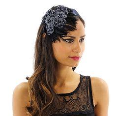 Beaded Floral Headband BLUE MULTI w/ DIY - Bead&Cord